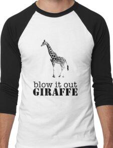 Blow it out giraffe Men's Baseball ¾ T-Shirt