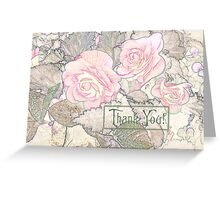 Pink Begonias - Thank You Card  Greeting Card