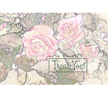 Pink Begonias - Thank You   Photographic Print