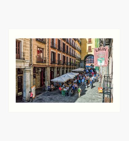 Toledo street in Madrid Art Print