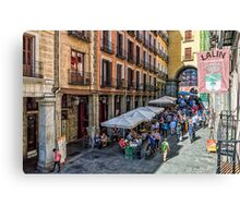 Toledo street in Madrid Canvas Print