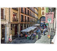 Toledo street in Madrid Poster