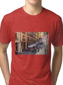 Toledo street in Madrid Tri-blend T-Shirt