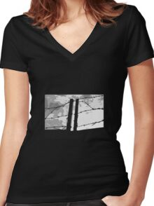 Barbed Women's Fitted V-Neck T-Shirt