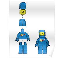 Building Benny, the blue spaceman Poster