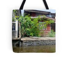 Water monitor lizard in Bangkok, Thailand Tote Bag