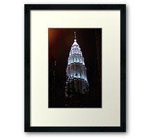 Silver Glow at Night III - Kuala Lumpur, Malaysia. Framed Print