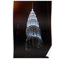 Silver Glow at Night III - Kuala Lumpur, Malaysia. Poster