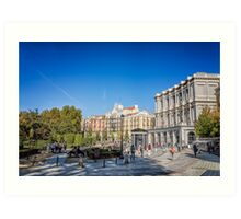 Oriente Square in Madrid Art Print