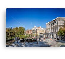 Oriente Square in Madrid Canvas Print