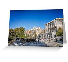 Oriente Square in Madrid Greeting Card