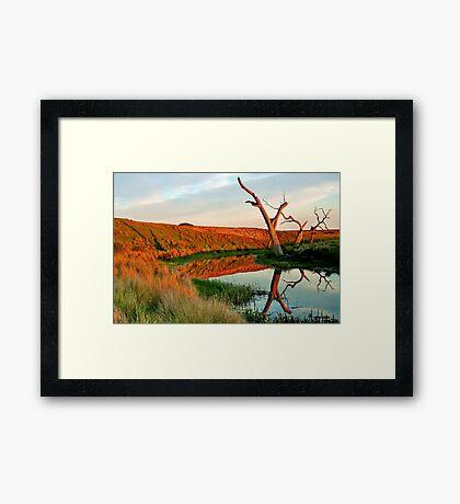 Lagoon on Thompson's Creek Framed Print