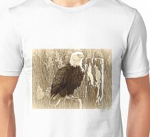 The Mighty Eagle Perches Patiently II (1422115986pcaVA) Unisex T-Shirt