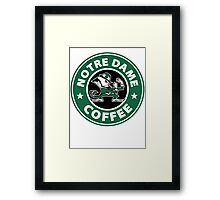 Notre Dame Coffee Framed Print