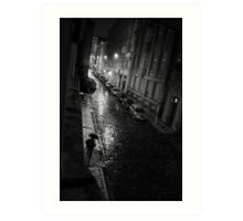 A Rainy Night in Prague Art Print
