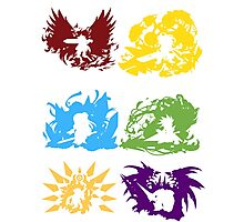 Brave Frontier-Six Great Heroes Photographic Print