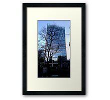 City Tree in Blue Framed Print