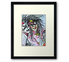 Harley Quinn with Spider Woman Framed Print