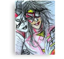 Harley Quinn with Spider Woman Canvas Print