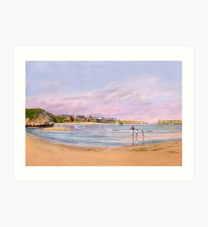 Cullercoats Bay Northumberland Art Print