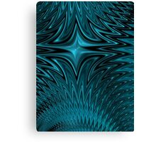 Zigzag in blue Canvas Print