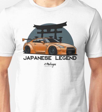Nissan GTR. Japanese Legend (orange) Unisex T-Shirt