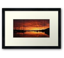 Hobart's Constitution Dock Framed Print
