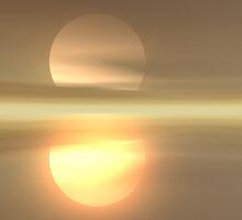 Warm Misty Sunrise by DLKeur
