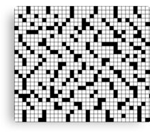 Crossword Pattern Canvas Print