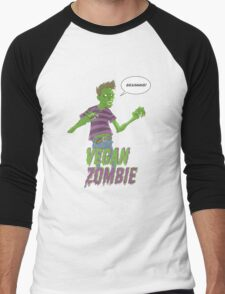 Vegan Zombie Men's Baseball ¾ T-Shirt