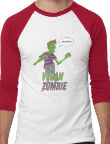 Vegan Zombie Men's Baseball ¾ T-Shirt