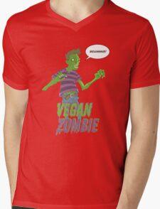 Vegan Zombie Mens V-Neck T-Shirt