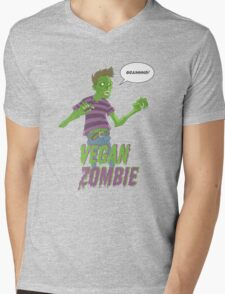 Vegan Zombie Mens V-Neck T-Shirt