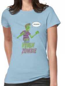 Vegan Zombie Womens Fitted T-Shirt