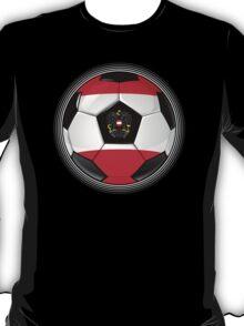Austria - Austrian Flag - Football or Soccer T-Shirt
