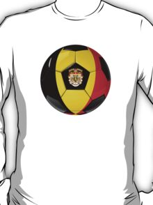 Belgium - Belgian Flag - Football or Soccer T-Shirt