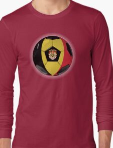 Belgium - Belgian Flag - Football or Soccer Long Sleeve T-Shirt