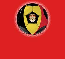 Belgium - Belgian Flag - Football or Soccer T-Shirt