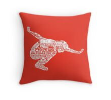 Seattle Grunge Song Collage Throw Pillow