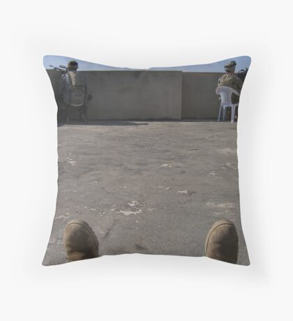 Rooftop security Throw Pillow