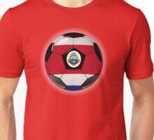 Costa Rica - Costa Rican Flag - Football or Soccer Unisex T-Shirt