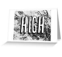 Art Print - High -Photo and Word- Typography Greeting Card
