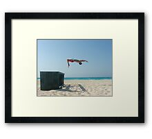 BeachFlip Framed Print