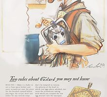 How to Make Good Custard - (A 1940's Ad)  by Longfallof1979