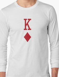 King of Diamonds Red Playing Card Long Sleeve T-Shirt