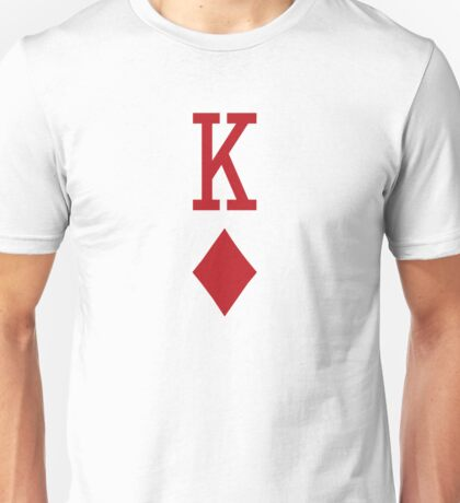 King of Diamonds Red Playing Card Unisex T-Shirt