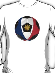 France - French Flag - Football or Soccer T-Shirt