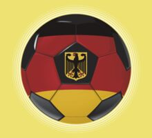 Germany - German Flag - Football or Soccer Kids Tee