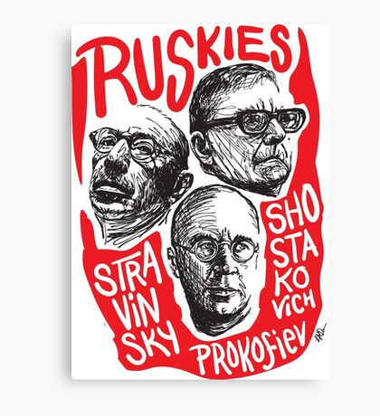 Ruskies-Russian Composers Canvas Print