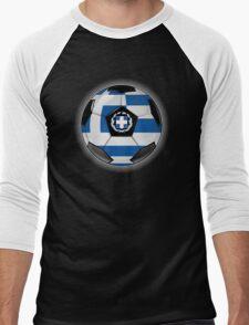 Greece - Greek Flag - Football or Soccer Men's Baseball ¾ T-Shirt